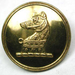 Antique Brass Livery Button - Muzzled Bear Design - Firmin & Sons - 1