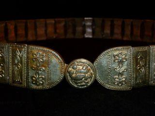 Stunning Scandinavian Ancient Artifact - Silver And Copper Belt 1200 - 1400 Ad photo