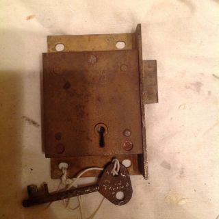 Chubb Post (pillar) Box Lock With 1 Key photo