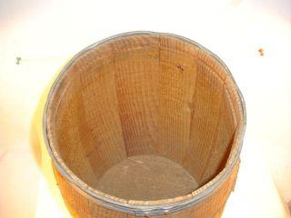 Vtg Primitive Rough Wood Rustic Nail Keg Industrial Hardware Store Barrel Euc photo