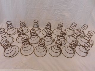 20 Vintage Rusty Tornado Style Bed Springs Primitive Crafts Shabby Nodders Grp 2 photo