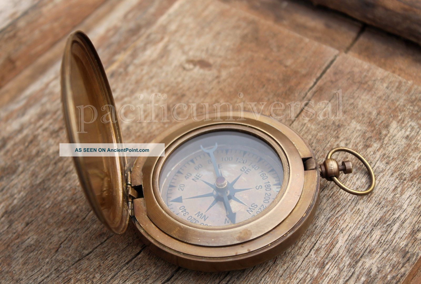 Nautical Vintage Marine Compass Collectible 3  Push Button Compass Compasses photo