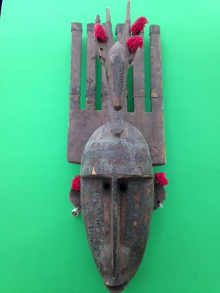Bamana N ' Tomo Mask Six Horns Mali African Art photo