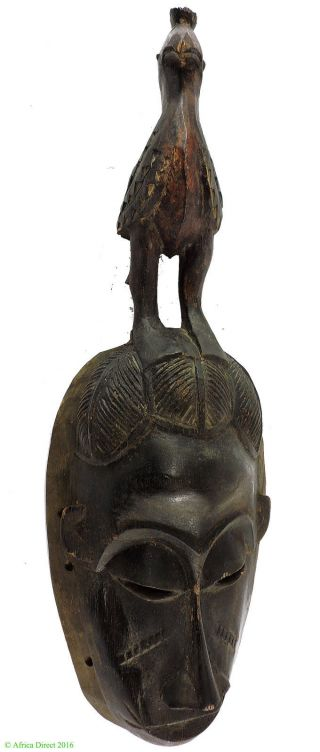 Baule Mask Bird Superstructure African Art Was $89 photo