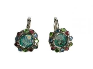 Earring Roman Glass Ancient Round Archaeological Dangle Silver P Holy Land photo