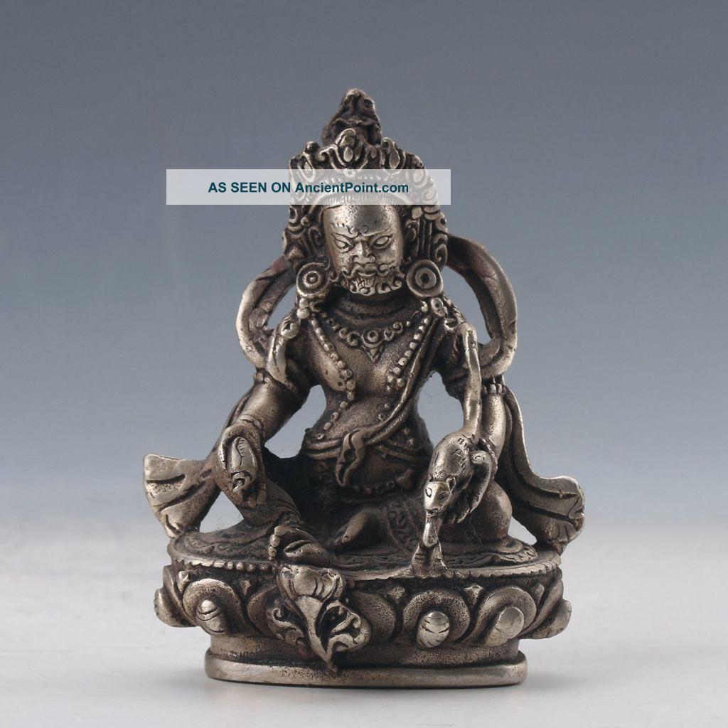 Chinese Cupronickel Hand - Carved Buddhas Statue Buddha photo
