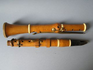 Antique Boxwood Early 1800 ' S Clarinet 8 Key Gunckel Paris photo