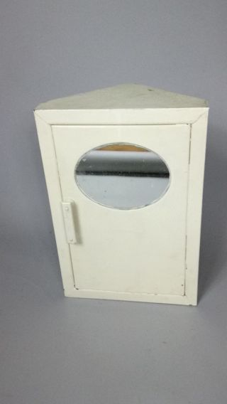 Vintage 1930ies Industrial Bathroom Corner Cabinet photo