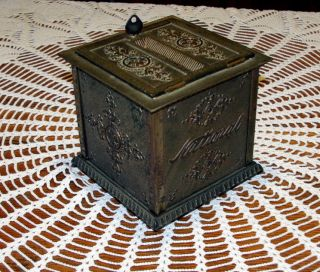 Antique National Nickel Plated Cash Register Receipt Ticket Box photo