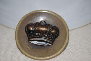 Antique Vintage Crown Button Coat Button Large Button photo