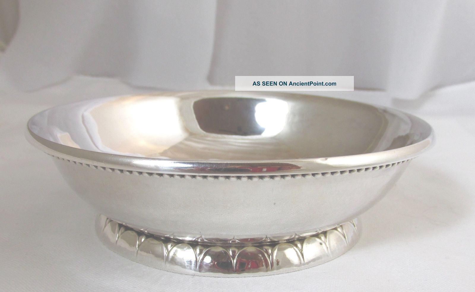 Vintage Georg Jensen Hand Hammered Sterling Silver Bowl 1925 - 1930 Bowls photo