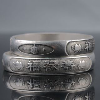 Chinese Tibet Silver Handwork National Fashion Bracelet @aa212 photo