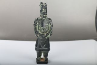 Exquisite Chinese Bronze Hand Carved Terra Cotta Warriors Statue J264 photo