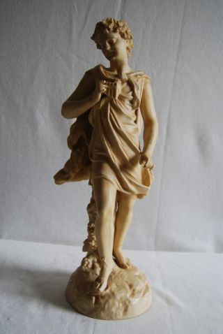 Porcelain Rudolstadt German Porcelain Sculpture Blush Figure Man 1890 Germany photo