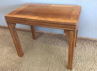 1930 ' S Art Deco Inlaid Wood Marquetry Coffee Table Or End Table photo