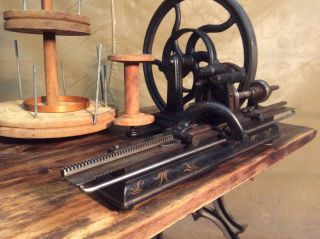 Antique Rare Knitting Machine (hinkley One Needle,  1866).  Sewing Vintage photo