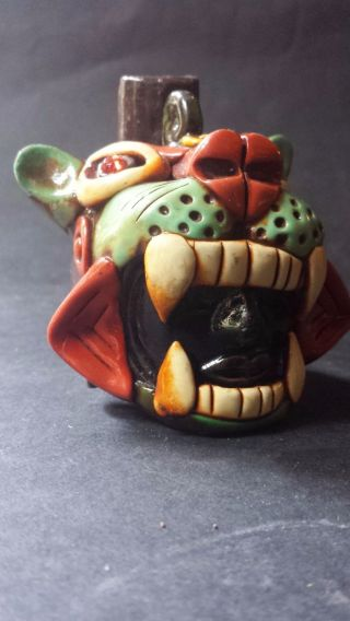 Ocarina Flute Tiger Whistle Mexican Art Musical Percussion Woodwind Instrument photo