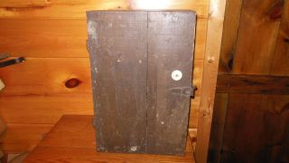 Vintage Wooden Handmade Cupboard / Primitive Farm Cupboard photo
