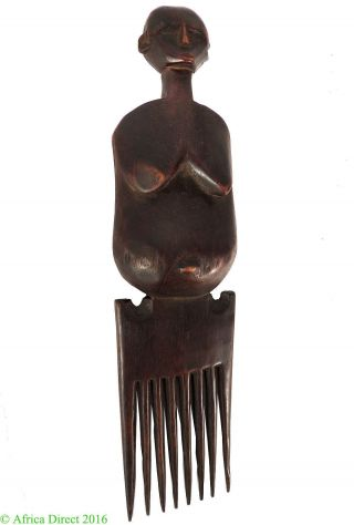 Chokwe Comb With Face On Handle Congo African Art Was $95 photo