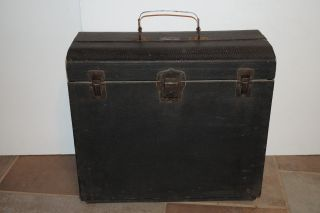 Antique Extensible Salesman Sample Case: 1916 Wood & Leather,  Hammond Case Co photo