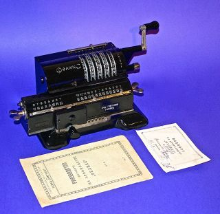 1938 Antique Russian Mechanical Calculator Arithmometer Feliks Kursk photo