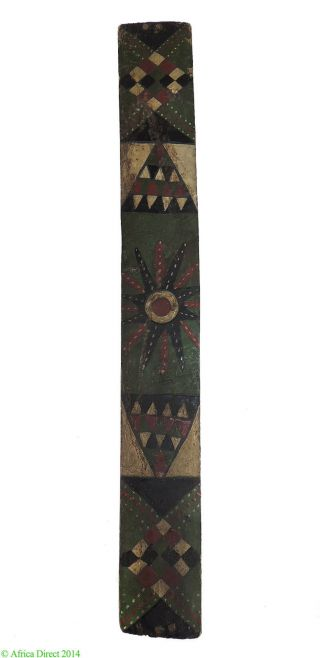 Zulu Painted Mat Holder Ibhaxa South African Art Was $279.  00 photo
