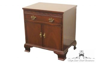Baker Furniture 18th Century Mahogany Cabinet Nightstand 8045 photo