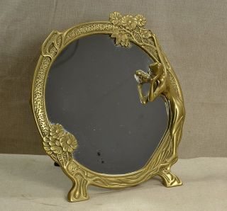 Antique Bronze Art Nouveau 10 1/4