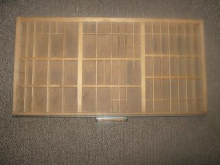 Antique Vintage Hamilton Printers Tray Drawer Shadow Box Letterset Wood Ms24 photo