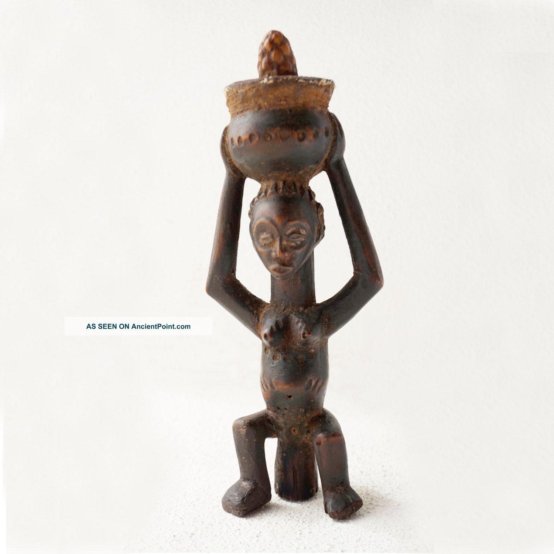 Rare Female Divination Figure - Luba Tribe - D.  R.  Congo - Haitribalart.  Com  Sculptures & Statues photo