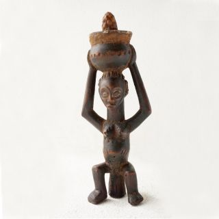 Rare Female Divination Figure - Luba Tribe - D.  R.  Congo - Haitribalart.  Com  photo