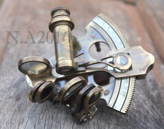 Nautical Brass Sextant Handmade Marine Vintage Ship Astrolabe Sextant 3