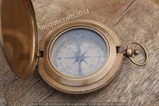 Nautical Solid Brass Push Button Compass 3