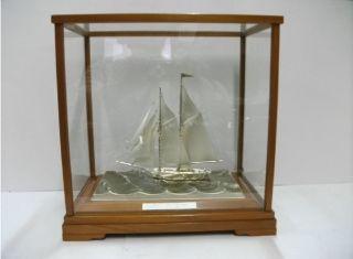 The Sailboat Of Silver985 Of Japan.  2masts.  116g/ 4.  08oz.  Takehiko ' S Work photo