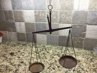 Hammond Riglander & Co 52 Antique Scale Or Balance With Six Weights photo