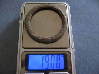 Extra Large Proto Money Ancient Celtic Bronze Ring 600 - 400 B.  C. photo