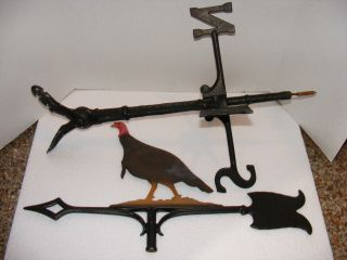 Iron Turkey Weathervane For Roof Top photo