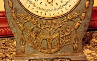 Antique Hushallsvag 10 Ornate Kitchen Scale Swedish Cast Iron Front photo