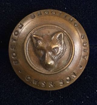 Antique Boston Shooting Suit Livery Hunting Buttons Fox Wolf X Rich Quality Cws photo
