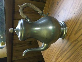 Royal Holland Pewter Creamer,  Coffee Pot,  Wood Handle,  Mid - Century,  Vintage photo