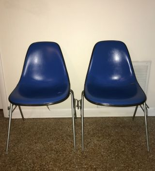 Eames Herman Miller Dss Shell Chairs Alexander Girard Vintage photo