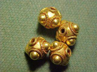 Sassanian Gold Decorative Bead Circa 224 - 642 Ad. photo