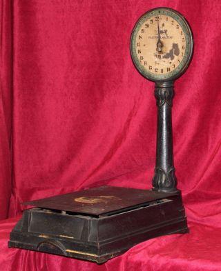 Rare 1920s Salter Lollipop Platform Scale,  Art Nouveau Model No.  111 photo