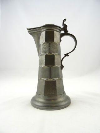 Rare Art Deco Kayserzinn Mug Tinn Antique Pot Signed photo