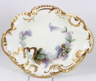 Antique Gilt Hand Painted Bowl 2 Embossed Pierced George Jones China England photo