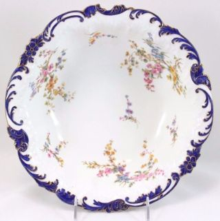 Rare Large Antique Royal Crown Derby 3567 Centerpiece Serving Bowl Cobalt Gold photo