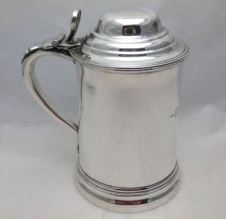 Antique Georgian Silver Plate One Pint Lidded Tankard Old Eclipse Public House photo