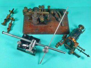 Small Selection Of Antique Telegraphy Parts Great For Steampunk Or.  ? photo