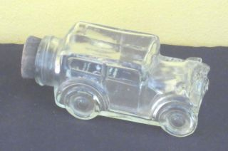 Vintage Dulciora Candy Or Perfume Car Container Glass Bottle photo