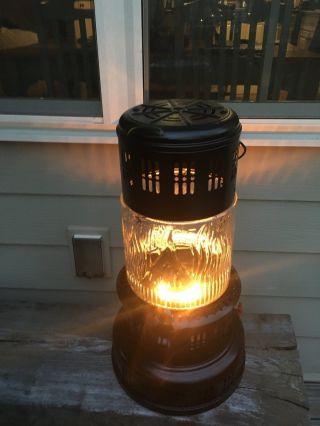 Vintage Kerosene Glass Globe Perfection Heater,  Pre 1915,  Black 735 photo